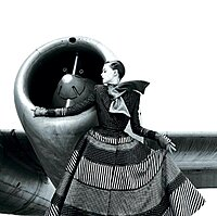 Click image for larger version.  Name:Lady Model With Unknown Jet Aircraft.jpg Views:132 Size:99.4 KB ID:82233
